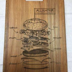 Гравировка на деревянной доске - Русский стиль - Студия лазерной гравировки