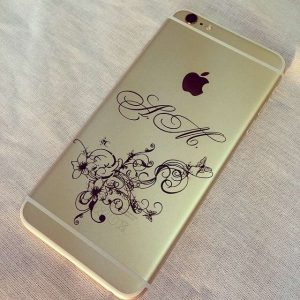 Гравировка на корпусе Айфон/iPhone  - Русский стиль - Студия лазерной гравировки