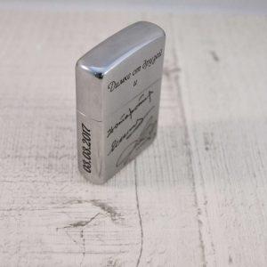 Гравировка на зажигалке из металла - Русский стиль - Студия лазерной гравировки