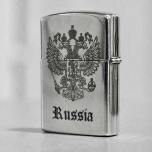 Гравировка на зажигалке Zippo - Русский стиль - Студия лазерной гравировки