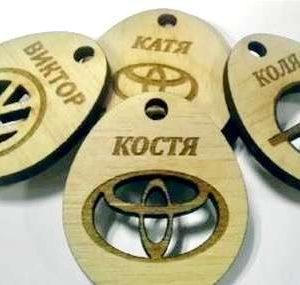 Гравировка на деревянных номерках - Русский стиль - Студия лазерной гравировки